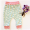"""Organic Cotton """"Bug"""" Baby pants in Pink and mint"""